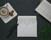 Cable Knit: Letterpress Folded Cards & Envelopes