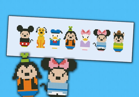 Mickey Mouse and friends parody - Cross stitch PDF patterb