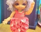 Rose flapper dress & hat for PUKIPUKI