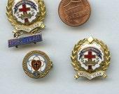 Enameled Presbyterian (3) Sunday School Religious Lot Medal Pins Vintage Brooch 9158