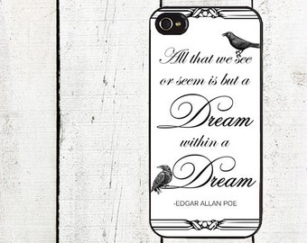 iphone 6 case Poe Raven Cell Phone Case - iPhone 4, 4s - iPhone 5 - iPhone 5 Case - Galaxy s3 s4 s5