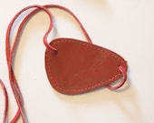 Rust Red Leather Metal Gear Solid Snake Big Boss Cosplay Costume Eyepatch by Darkwear Clothing