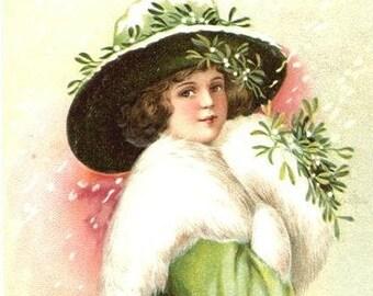 Vintage Christmas Child Cross Stitch Pattern PDF