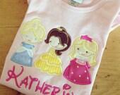 Cutie Princess Appliqued Monogrammed Pink  Short Sleeve Ruffle Dress