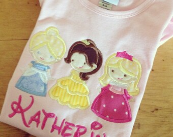 Cutie Princess Appliqued Monogrammed Pink  Short Sleeve Ruffle Dress for girls
