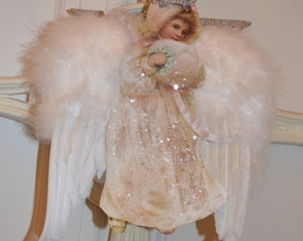 Angel  Victorian style Ornament.Decoration.Christmas.Any time.Regina queen of the angels.Protector of all