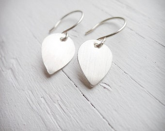 Petite Lotus Petal Earrings - Sterling Silver