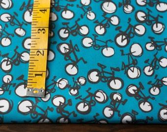 Bicycle Fabric - Blue Hand-Drawn Original Fabric Design
