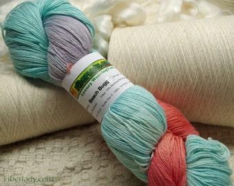 Hand painted Mousocot yarn - 4 oz. Beach Buggy