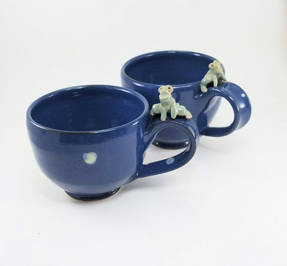 pair of froggy mugs sold together