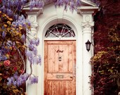 "London Door Photography, London Photography, Spring Decor, Flowers, Purple Wisteria, Garden, Romantic Home Decor, ""Dream Home"""