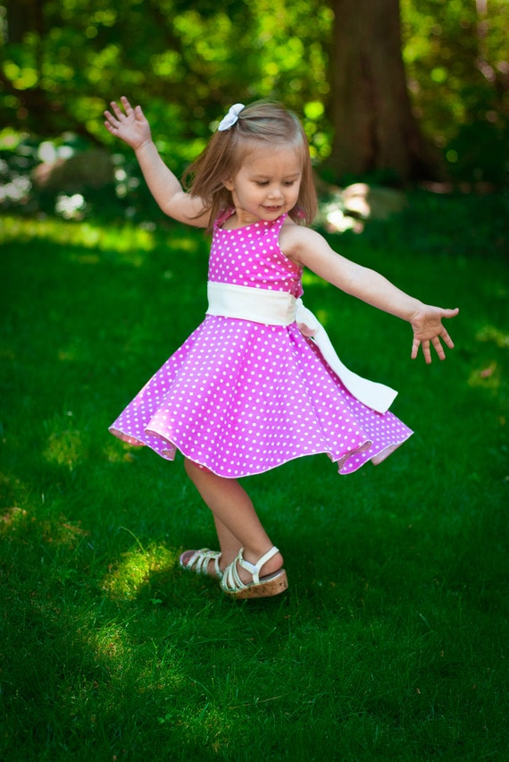 Girls Dress Pattern For Knits Toddlers And Girls Halter Twirl