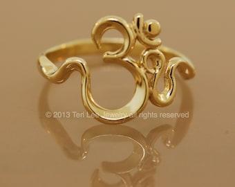 Om Sweet Om  Ring  Gold