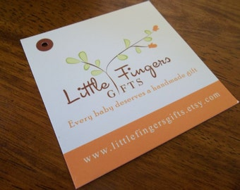"""250 Custom Printed 3"""" Hangtags  - Great High End Quality - Professionally Printed - Super Thick 14pt Cardstock"""