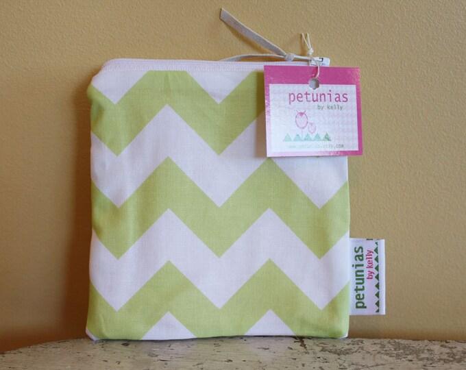 SALE Small Zipper Pouch by PETUNIAS modern hipster geometric triangle chevron tween teen gift bag present birthday