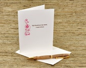 My friends are my estate - Emily Dickinson quote - letterpress card