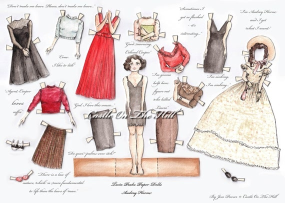 Twin Peaks Paper Doll - Audrey Horne - with quotes