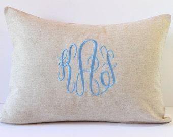 Baby Gender Reveal Party. Boy or Girl Monogram Pillow Cover. 12 x 16 Nursery Decor. Custom Throw Pillow. Decorative Shower Gift. SewGracious