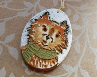 Pomeranian Dog Ornament