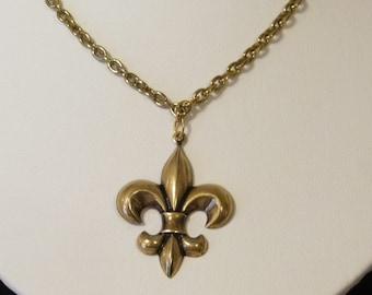 Gold Plated Fleur De Lis Choker