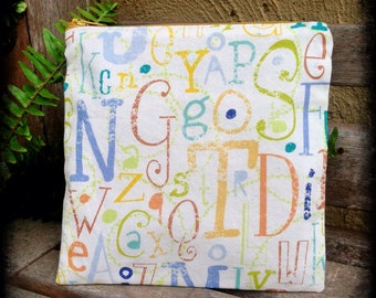 IMPERFECT Eco-Friendly Resuable Zippered Sandwich Bag - Alphabet Soup (#012)