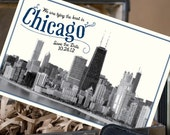 Vintage Postcard Save the Date (Chicago, Illinois) - Design Fee