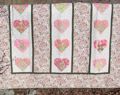 Spring Hearts Patchwork Quilt
