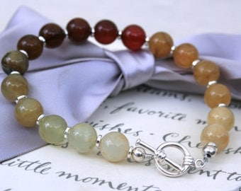 Soocho Jade bracelet graduated colors