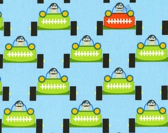 Michael Miller, Tamara Kate, Les Monsieurs, Gentleman Start Your Engines Multi Fabric - Half Yard