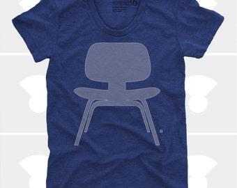 Women's TShirt Eames Plywood Chair (Women), Womens Top, S,M,L,Xl, Mid Century Modern, Eames Chair Shirt (4 Colors) for Women