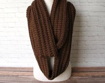 Chunky Scarf, Knit Chunky Infinity Scarf, Women's Scarf, Oversized Scarf, Knit Infinity Scarf, Circle Scarf, Knit Cowl, Winter Scarf