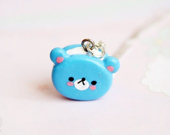 Bear Cookie Necklace, Kawaii, Cute Jewelry - Animal, Miniature Sweets, gift for her