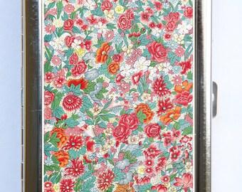 Art Nouveau Floral Pattern #1 Cigarette Case id case Wallet Business Card Holder