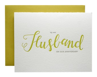 Husband Letterpress Card