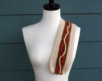 Crochet Scarf Pattern, Hot Dog