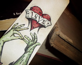 Sealed with Love Zombie Bookmark  by Agorables Clothing The King Of Tattoo Style Horror Goodness