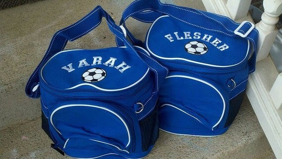 Personalized Double Compartment Coolers - Royal Blue
