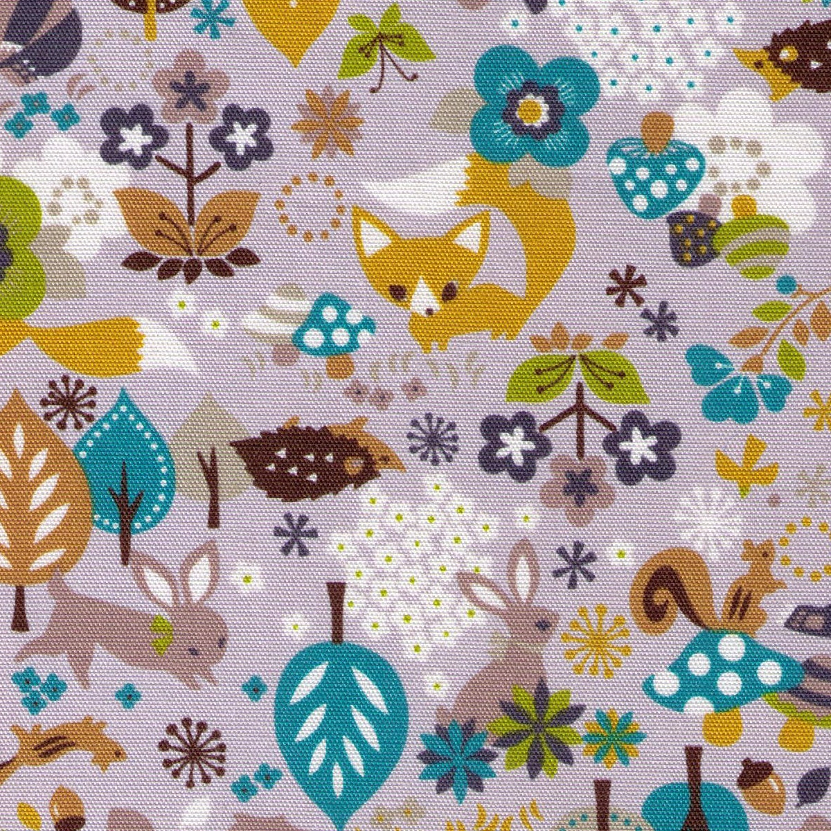 End of bolt woodland creatures kokka on grey