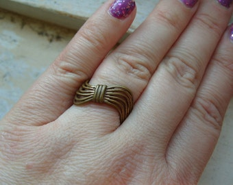 FREE SHIPPING Vintage Brass Ring Industrial Band Ring - Size 9