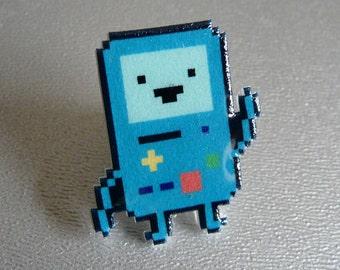 pee-ing - adventure time beemo pin