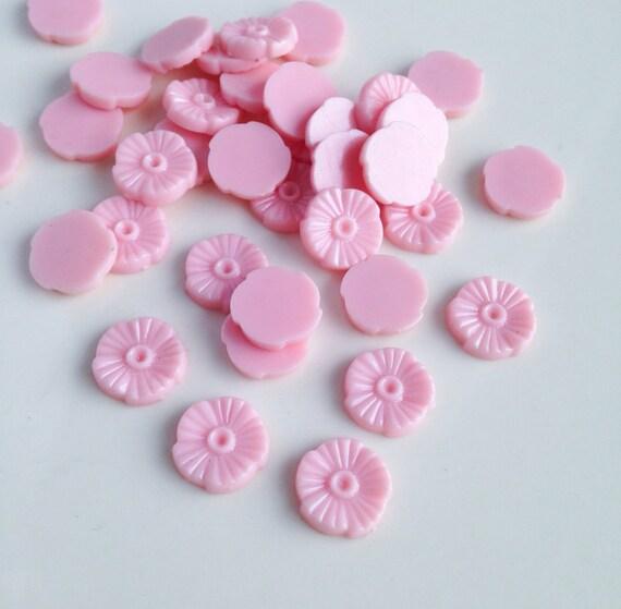 Vintage Plastic Small Pink Flower Beads 20 By BlueBirdSupplyCo