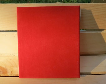 fabric journal, red