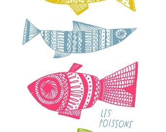 Lisa Congdon Les Poissons 11x14 Art Print