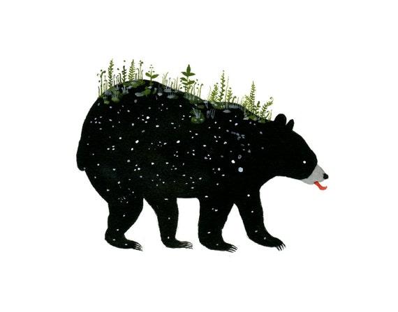 Spring Bear - 11 x 14 inch Giclee Print