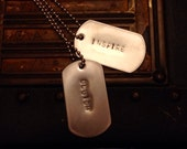 Customizable dog tag necklace to collect or share. Great gift. FREE SHIPPING