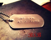 One day at a time dog tag necklace free shipping