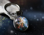 Galaxy Keychain - Choose Your Space Image Key Chain - Universe, Cosmos, Planets, Moon, Sun, Milky Way, Stars, Nebulae - Gift for Him or Her