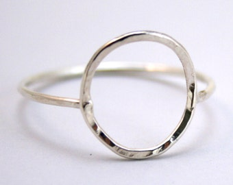 Open Circle - Sterling silver ring - Made to order in your size!