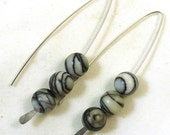Picasso Jasper V Style Sterling Silver Earrings