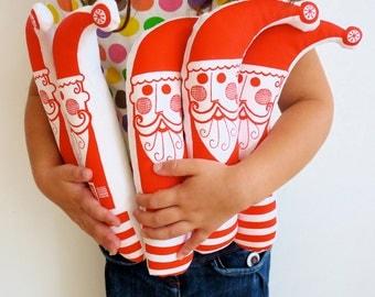 Screen printed Retro Santa Father Christmas Softie Toy